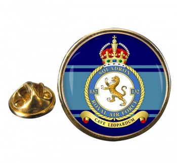 No. 132 Squadron Round Pin Badge