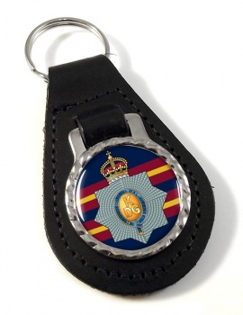 1st The King's Dragoon Guards Leather Key Fob