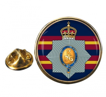 1st The King's Dragoon Guards Round Pin Badge