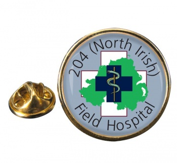 204 Field Hospital Round Pin Badge
