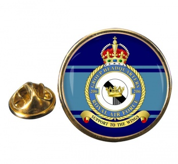 No. 206 Group Headquarters Round Pin Badge