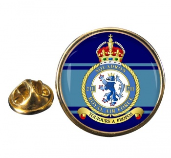 No. 211 Squadron Round Pin Badge
