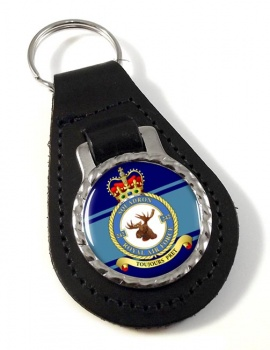 No. 242 Squadron Leather Key Fob