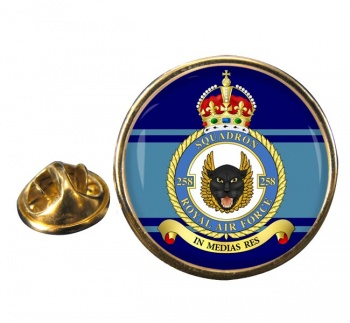 No. 258 Squadron Round Pin Badge