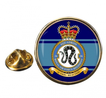 Royal Air Force Regiment No. 26 Round Pin Badge