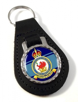 2nd Tactical Air Force Leather Key Fob