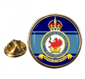 2nd Tactical Air Force Round Pin Badge