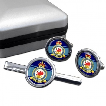 2nd Tactical Air Force Round Cufflink and Tie Clip Set