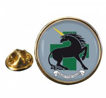 335 Medical Evacuation Regiment Round Pin Badge