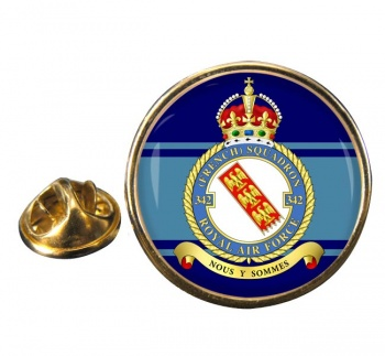 No. 342 French Squadron Round Pin Badge