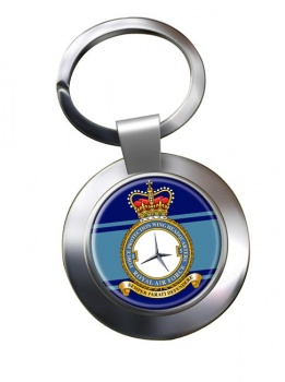 No. 5 Force Protection Wing Chrome Key Ring