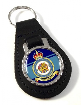 No. 5 Transport Command Ferry Unit Leather Key Fob