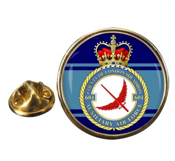 No. 601 Squadron RAuxAF Round Pin Badge