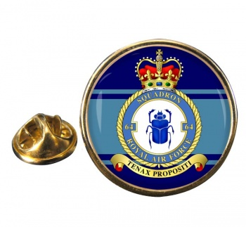 No. 64 Squadron Round Pin Badge