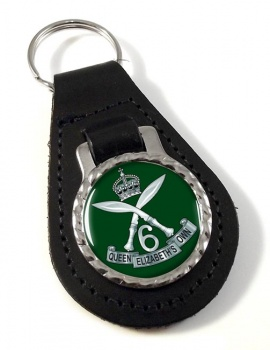 6th Queen Elizabeth's Own Gurkha Rifles Leather Key Fob