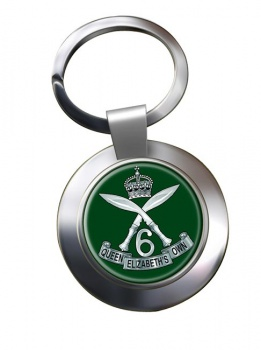 6th Queen Elizabeth's Own Gurkha Rifles Chrome Key Ring