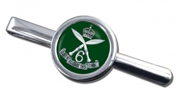 6th Queen Elizabeth's Own Gurkha Rifles Round Tie Clip