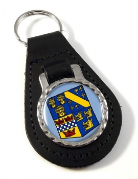 Aberdeenshire (Scotland) Leather Key Fob
