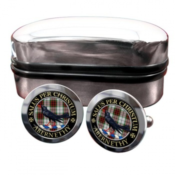 Abernethy Scottish Clan Round Cufflinks