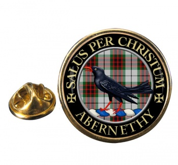Abernethy Scottish Clan Round Pin Badge
