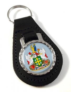 Abingdon (England) Leather Key Fob