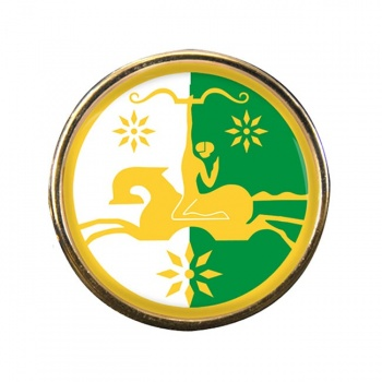 Abkhazia Round Pin Badge