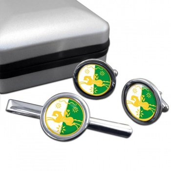 Abkhazia Crest Cufflink and Tie Clip Set