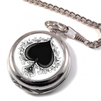 Ace of Spades Pocket Watch