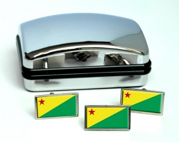 Acre (Brasil) Flag Cufflink and Tie Pin Set
