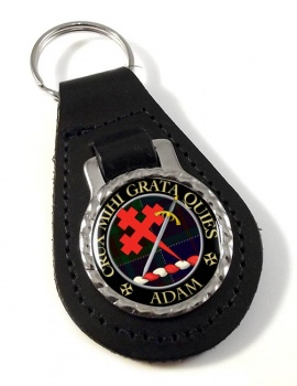 Adam Scottish Clan Leather Key Fob