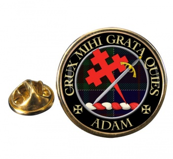 Adam Scottish Clan Round Pin Badge