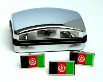 Afghanistan Flag Cufflink and Tie Pin Set