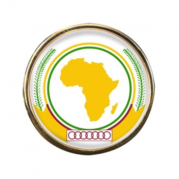 African-Union Round Pin Badge