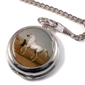 Wellington's Grey Horse by Agasse Pocket Watch