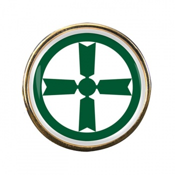 Akita (Japan) Round Pin Badge