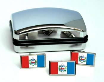 Alagoas (Brasil) Flag Cufflink and Tie Pin Set