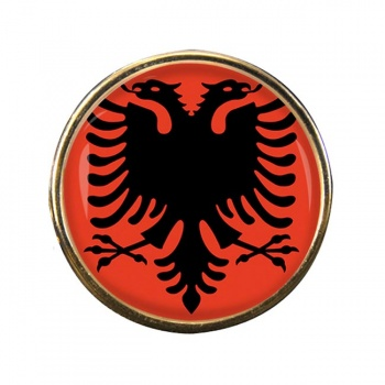 Albania Round Pin Badge