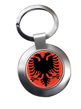 Albania Metal Key Ring