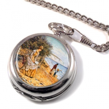 At the Seashore by Allingham Pocket Watch