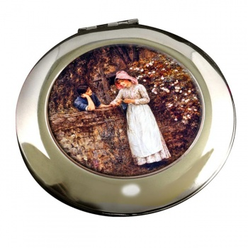 Over the Garden Wall by Allingham Round Mirror