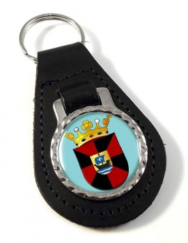 Almere (Netherlands) Leather Key Fob