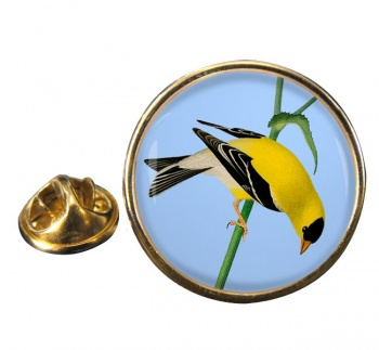 American Goldfinch Round Pin Badge