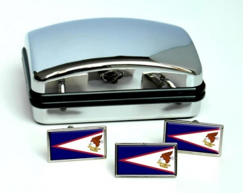 American Samoa Flag Cufflink and Tie Pin Set