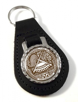 American Samoa Leather Key Fob