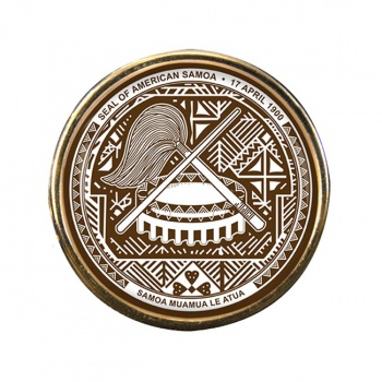 American Samoa Round Pin Badge