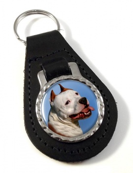 American Staffordshire Terrier Leather Key Fob