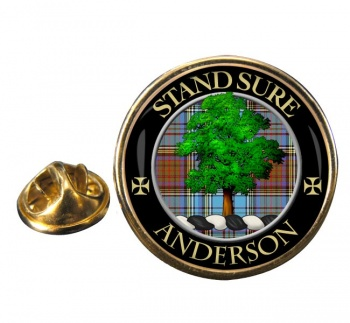 Anderson Scottish Clan Round Pin Badge