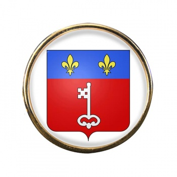 Angers (France) Round Pin Badge