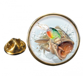 Angling Round Pin Badge