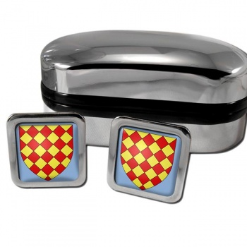 Angoumois France Square Cufflinks